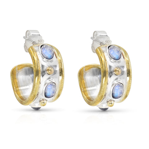 The Imperial Moonstone Hoops