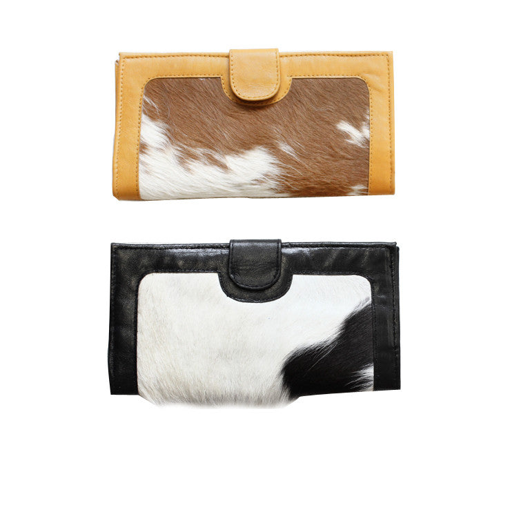 Large cowhide leather wallet