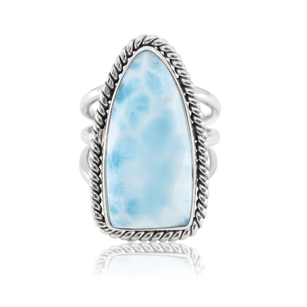Queen of Spades Larimar Ring