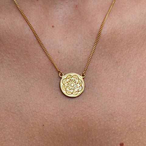Mandala Gold Necklace