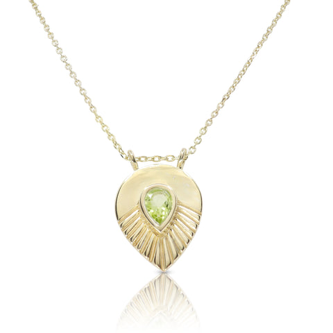Maple Peridot Gold Necklace