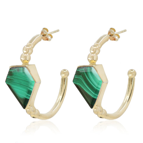 Montana Gold Malachite Hoops