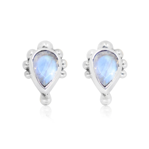 Pebble Moonstone Studs