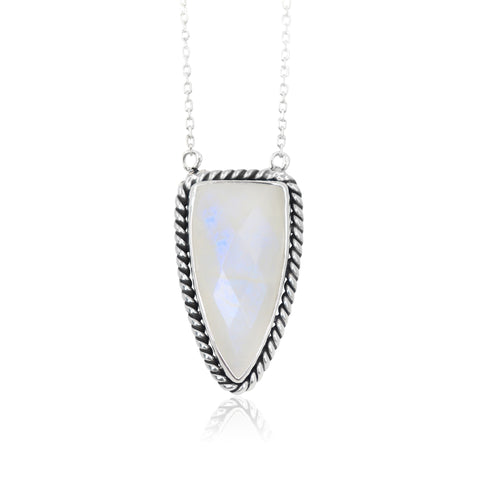 Queen of Spades Moonstone Pendant