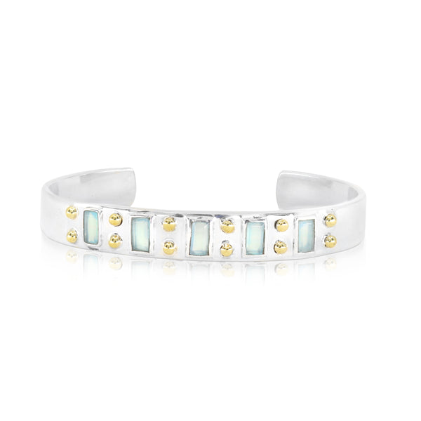 The Regal Aqua Chalcedony Cuff