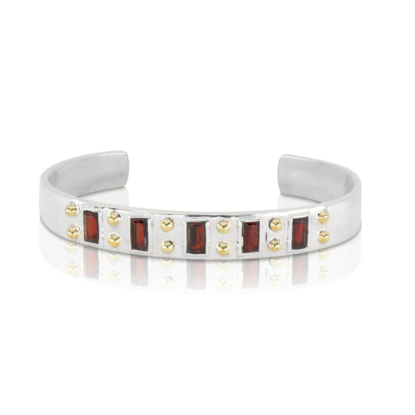 The Regal Garnet Cuff
