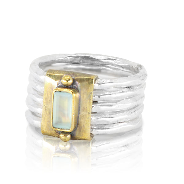 Sovereign Aqua Chalcedony Ring