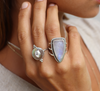 Monarchy Shield Moonstone Ring