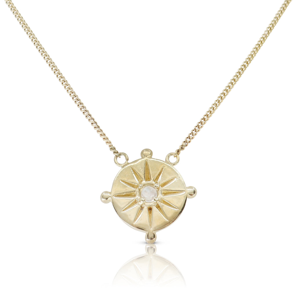 Sun Dial Gold Necklace