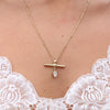 The Bar Gold Moonstone Necklace