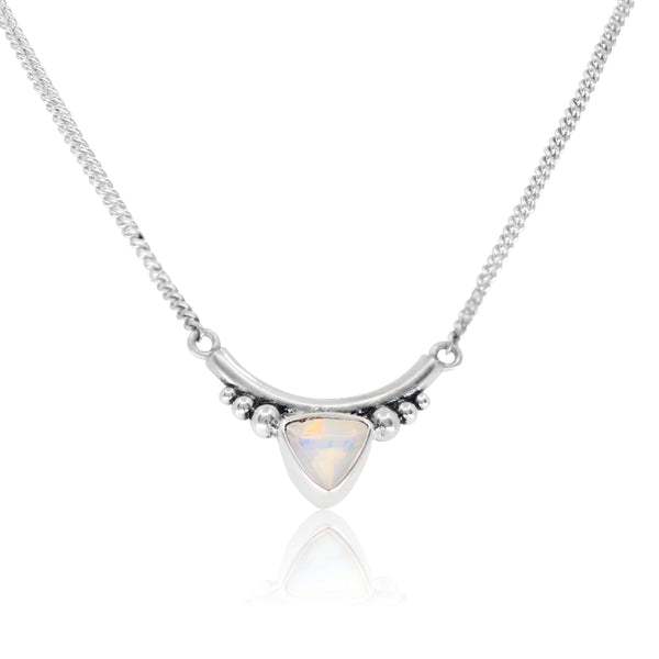 The Bower Opal Silver Necklace