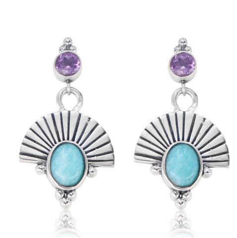 The Empress Amazonite Silver Earrings