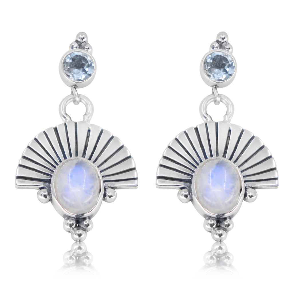 The Empress Moonstone Silver Earrings