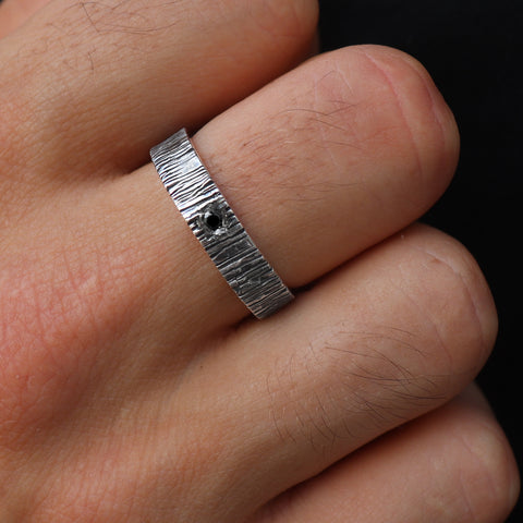 Brushed Black Diamond Band