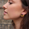 Adrift Earrings Gold Onyx