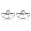 Adrift Earrings Silver Moonstone