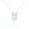 Etheria Aqua Chalcedony Silver Necklace