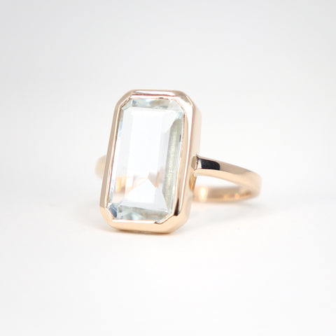 Baguette Aquamarine ring