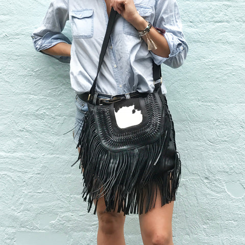 The Heather cowhide Satchel