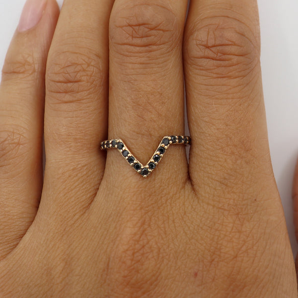 Black diamond Pavè supernova ring