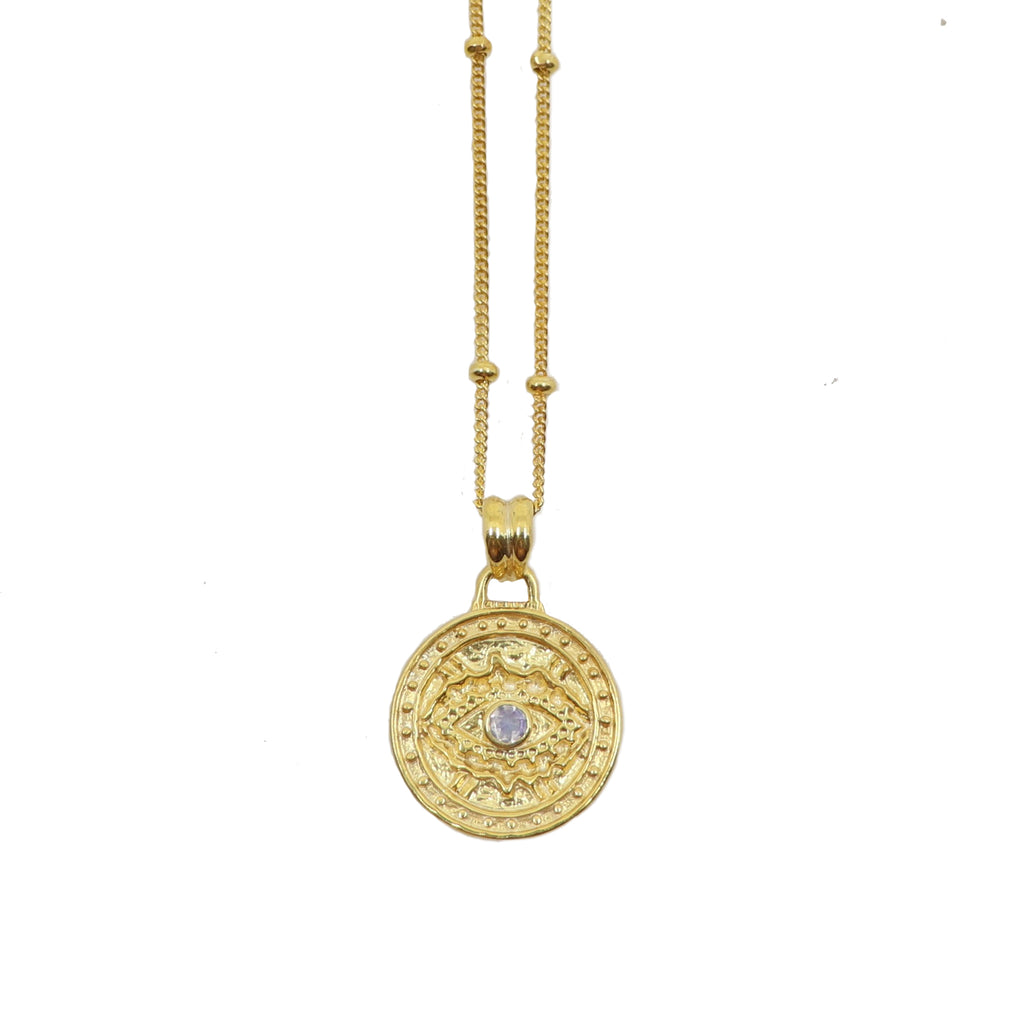 Watchful Gold Pendant