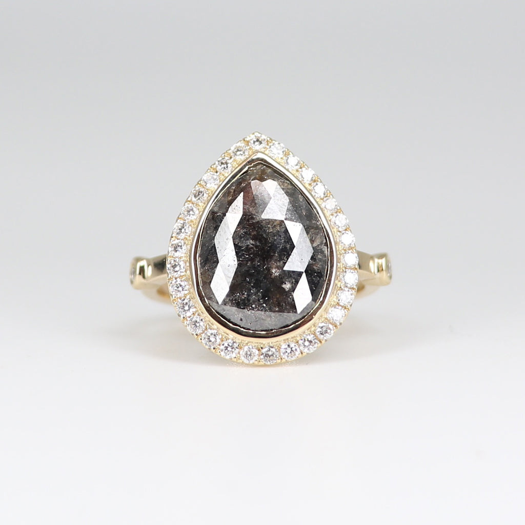 Grey and White Diamond Dynasty Ring