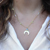 Eclipse Moon Gold Necklace