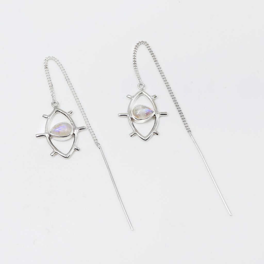 Evil eye thread earrings