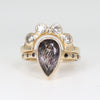 Regal Crown Ring white Diamond wedder