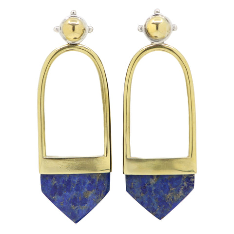 FALLEN SEA LAPIS EARRINGS