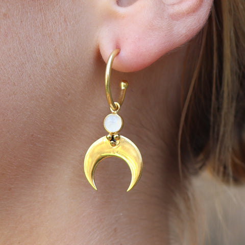 Baby Eclipse Gold Hoops