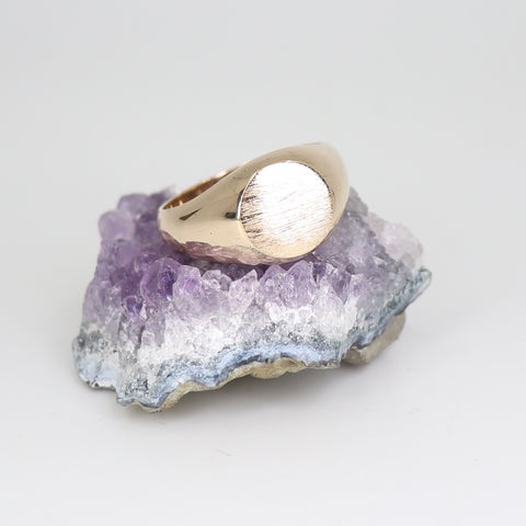 Unisex Solid 9ct gold signet ring