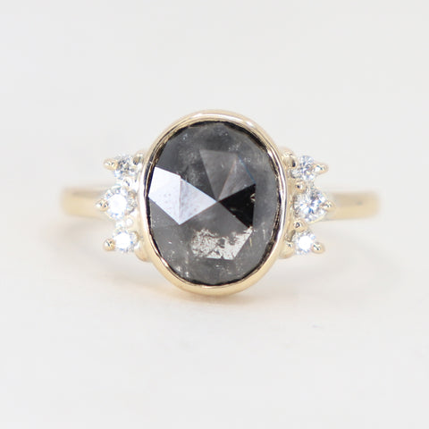 Celestial Oval grey diamond