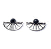 Adrift Earrings with Onyx