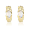 Lola Moonstone Gold Hoops