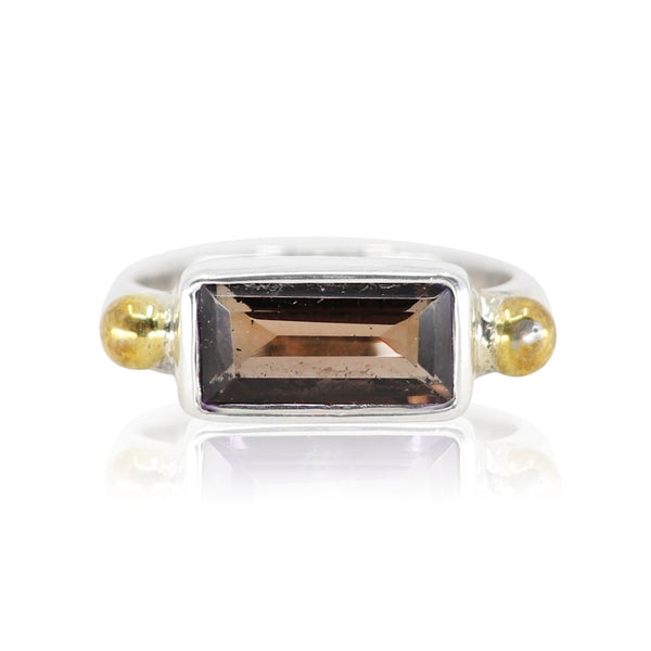 The Celine Smokey Quartz Ring