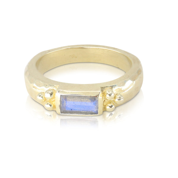 Reverence Labradorite Gold Ring