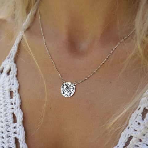 Mandala Silver Necklace