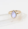 Moonstone tear drop ring