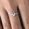 Moon drop ring