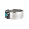 Turquoise geometric ring