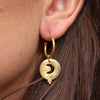 Night Skies Gold Baby Hoops