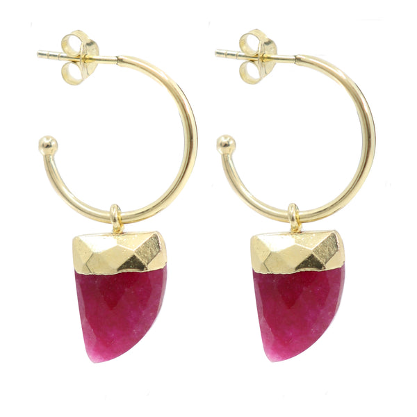 Ruby Gold Baby Hoops