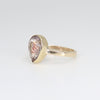 One of a kind Rutilated Ruby Quartz ring