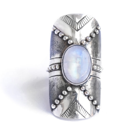 Protector Moonstone Ring
