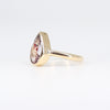 One of a kind rutilated quartz ring