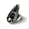 Obsidian arrow head ring