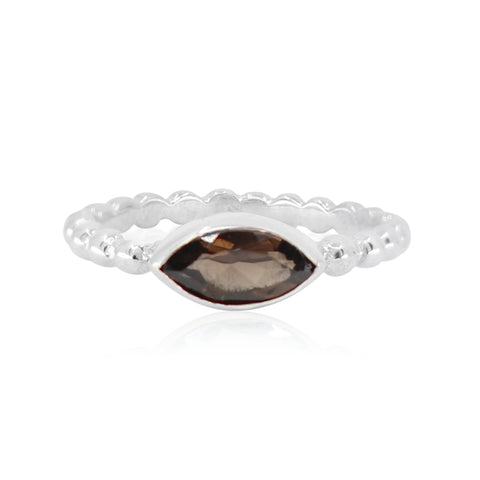 Olivia Smokey Quartz Stacker