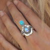 Turquoise and Moonstone Solace Stack