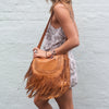 The Heather Satchel Tan